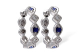 A047-00462: EARRINGS .20 SAPP .25 TGW