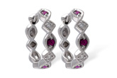 B047-00462: EARRINGS .20 RUBY .25 TGW