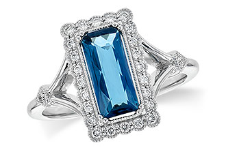 C236-15080: LDS RG 1.58 LONDON BLUE TOPAZ 1.75 TGW