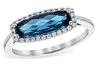 E236-14171: LDS RG 1.79 LONDON BLUE TOPAZ 1.90 TGW