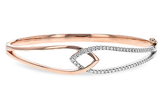 F235-25989: BANGLE BRACELET .50 TW (ROSE & WG)
