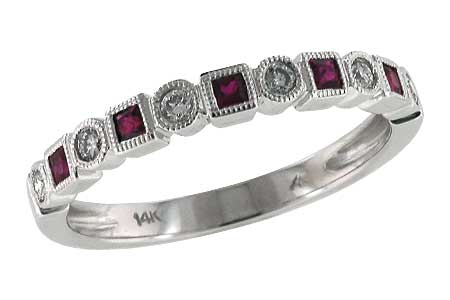 G142-52362: LDS WED RG .18 RUBY .30 TGW