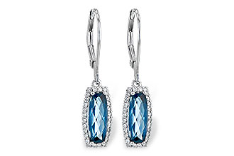 L236-15034: EARR 2.10 LONDON BLUE TOPAZ 2.28 TGW